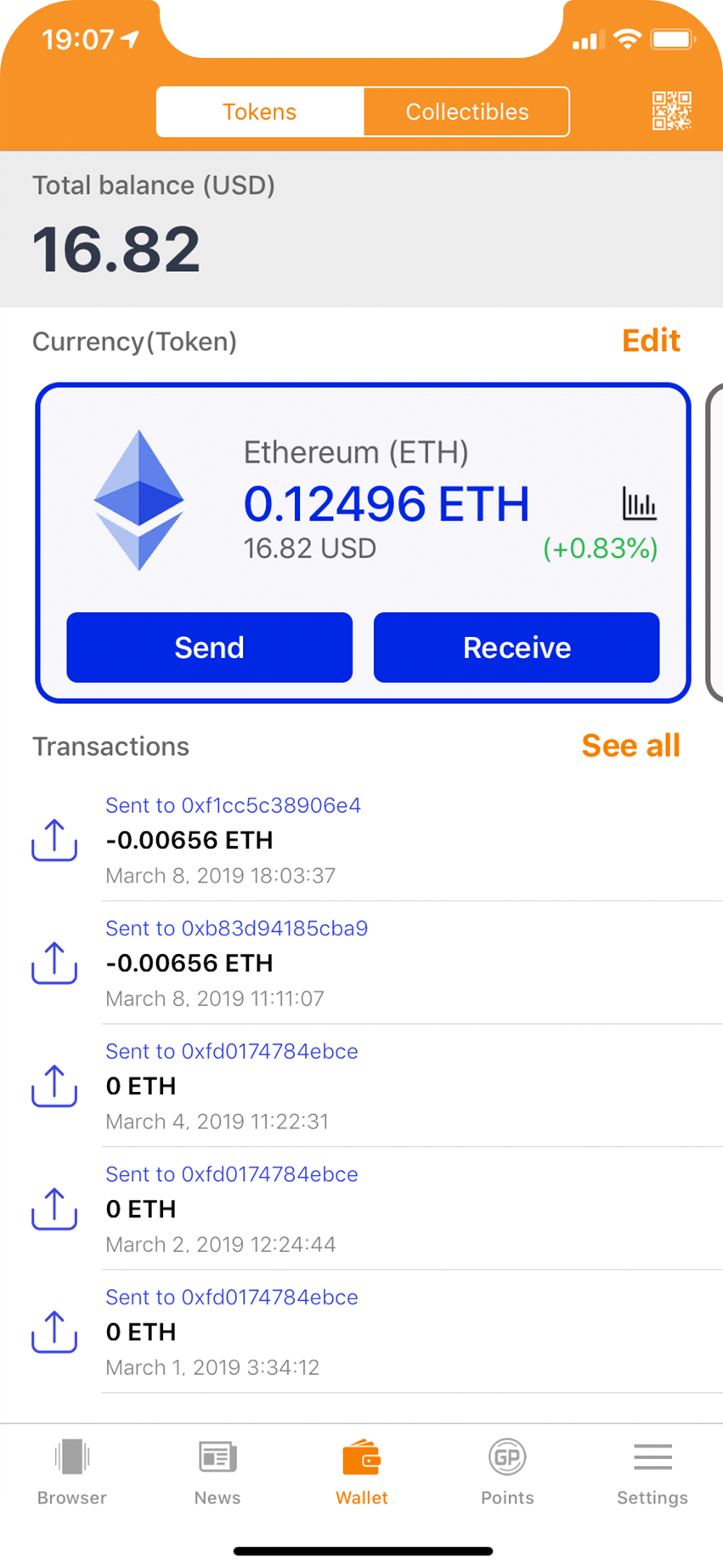 GO ! WALLET | ethereum wallet & DApp - You can earn crypto free